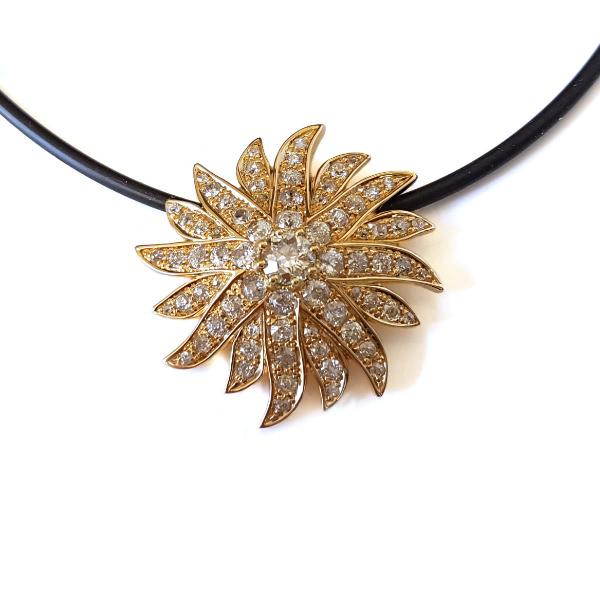 Anhänger Gelbgold Diamanten Altschliff (1007084.2)