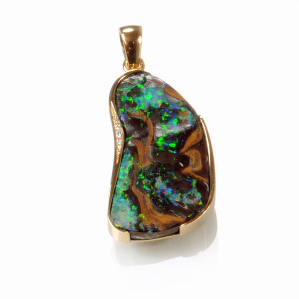 Anhänger Gelbgold Opal Kundenstein Brillanten  (1007817)