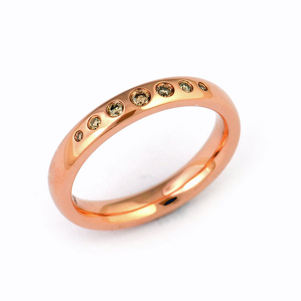 Verlobungsring Rotgold Brillanten (1007866)