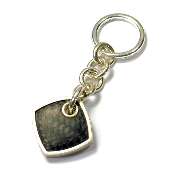 Schlüsselanhänger Silber Carbon (250175)